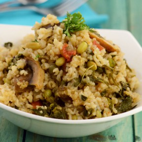 FENUGREEK AND MUSHROOM BROWN RICE