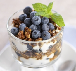 Ginger-Blueberry Parfait