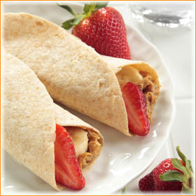 Peanut Butter-Strawberry Wrap