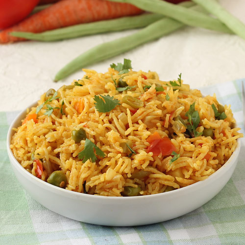 Mix vegetable pulao/pilaf