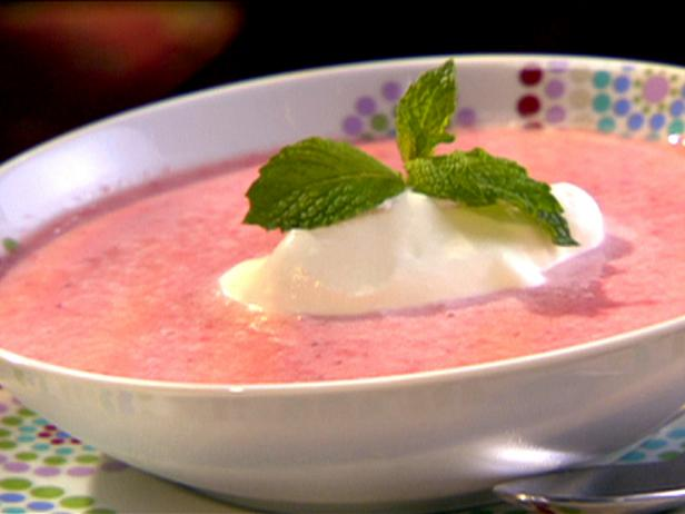 Strawberry Mint Cold Soup