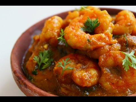 Prawns in coconut milk gravy