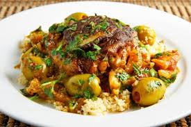 Slow cooker moroccan chicken with olives
