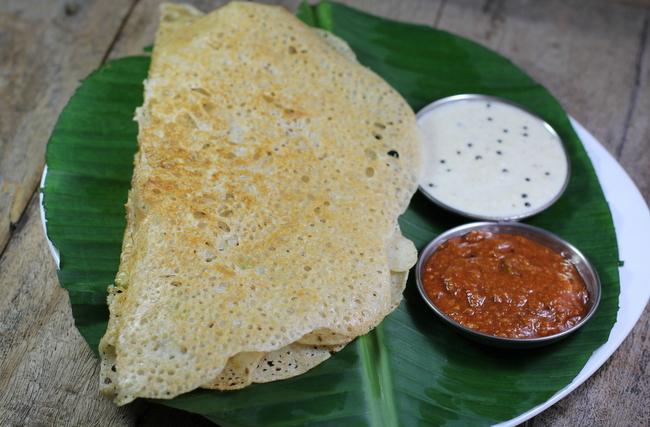 Oats mutter dosa