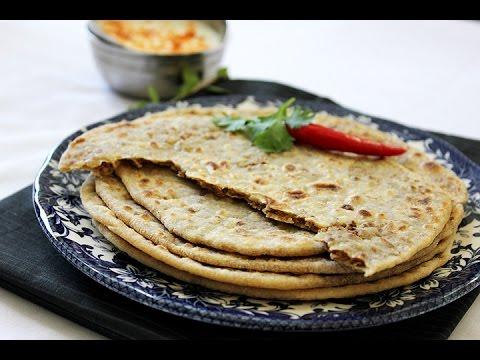 Herbed paneer paratha