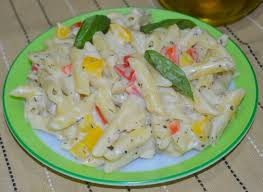 White sauce Pasta with an Indian twist