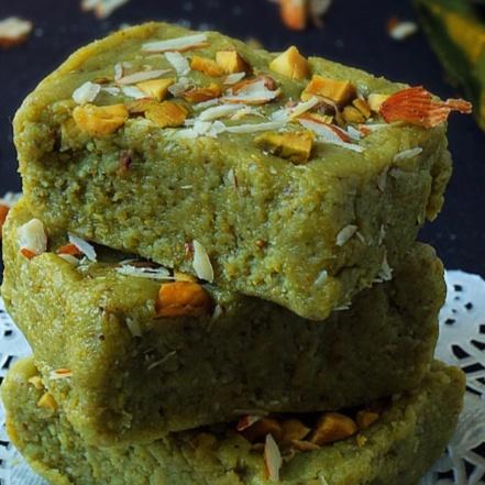 Badam pista burfi ( Almond and pistachio fudge)
