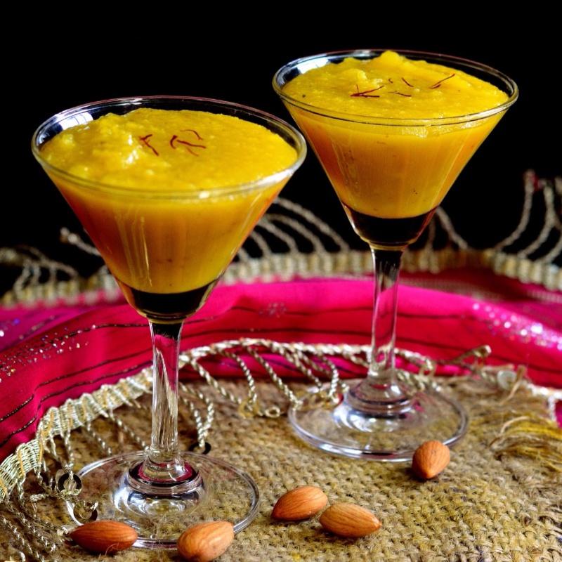 Kesari Badam Halwa | Traditional Indian Almond Fudge