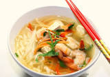 Asian Prawn and Noodle Soup