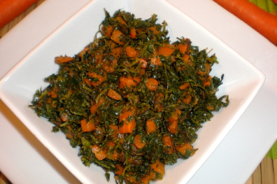 Carrot methi subzi