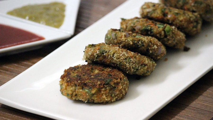 Healthy Spinach Oats Cutlet