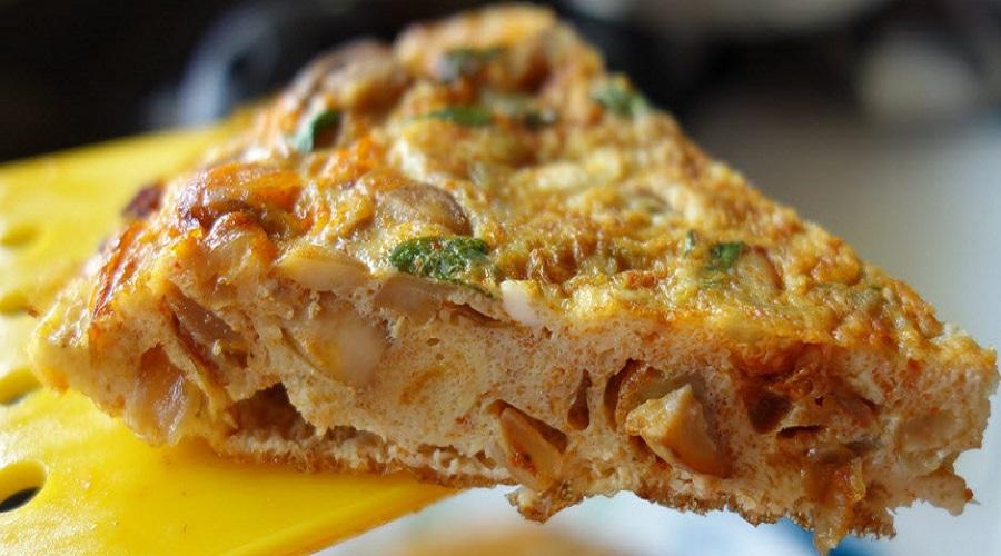 Mushroom Masala Omelette