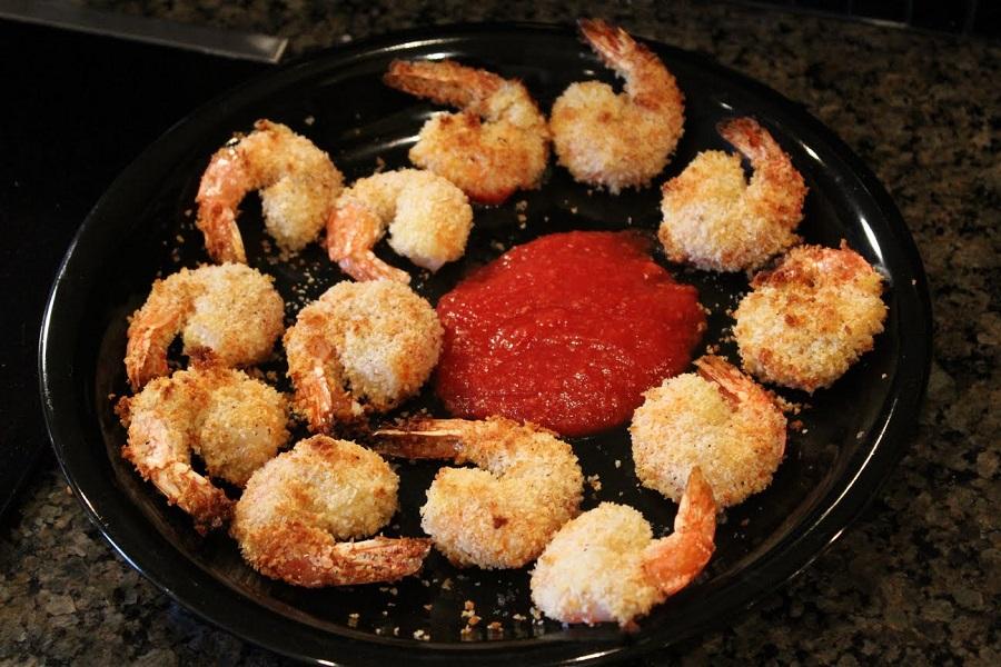 redddish crispy baked shrimps