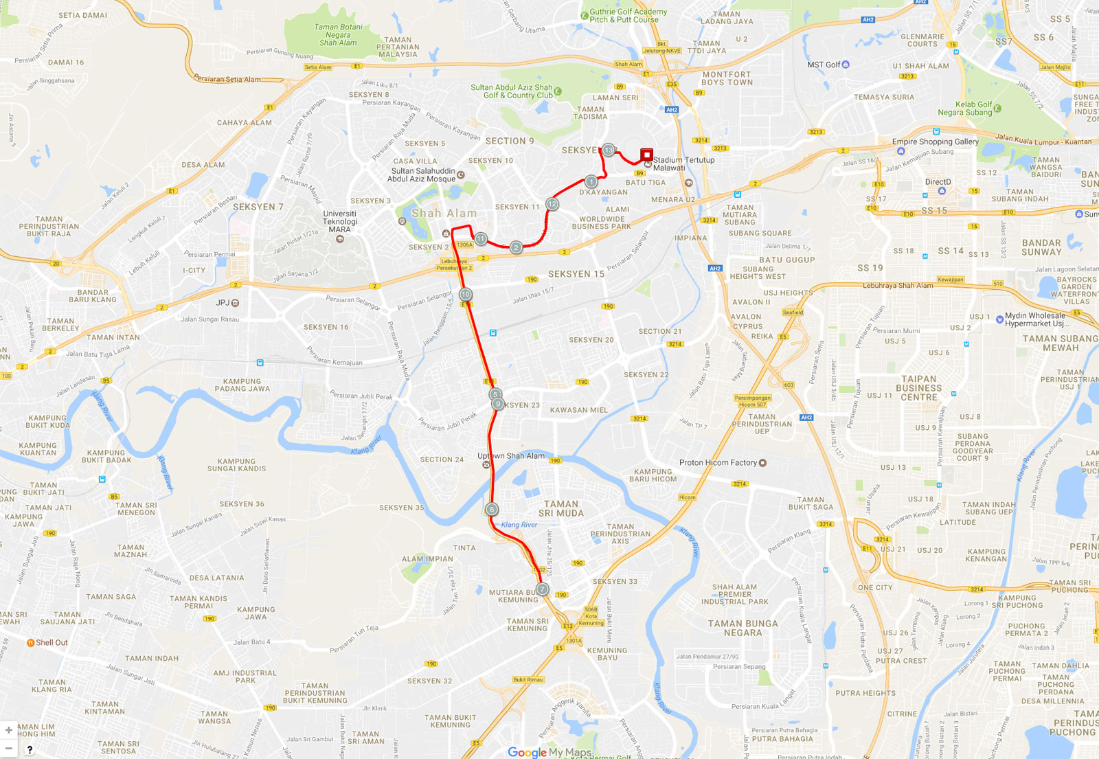 MWM 21km Route