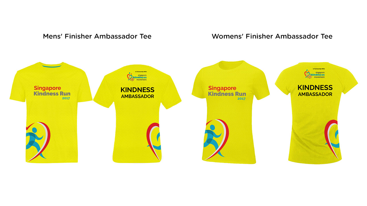 Singpapore Kindness Run 2017 Finisher Ambassador Tee