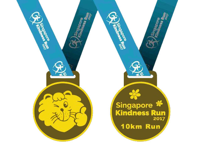 Singapore Kindness Run 10km Run Finisher Medal