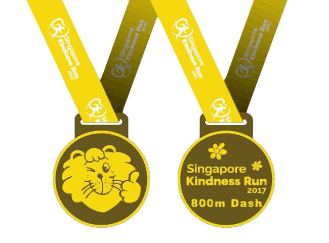 Singapore Kindness Run 800m Dash Finisher Medal