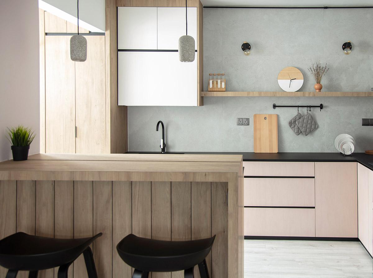 SquareRooms-KDOT-Associates-kitchen pastel pink grey cabinets