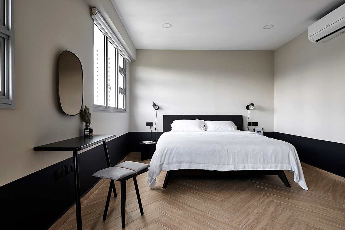 SquareRooms-Studio-FortyFour-black-and-white-master-bedroom