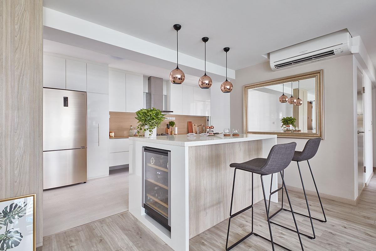 SquareRooms-FSI-pastel-kitchen-mirror-bronze-rose-gold