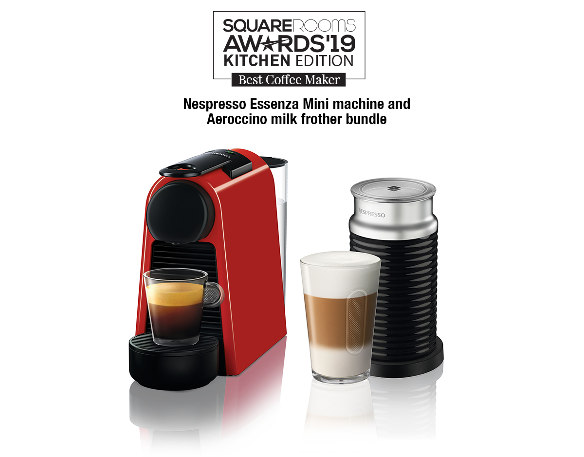 Nespresso Essenza Mini machine and Aeroccino milk frother bundle