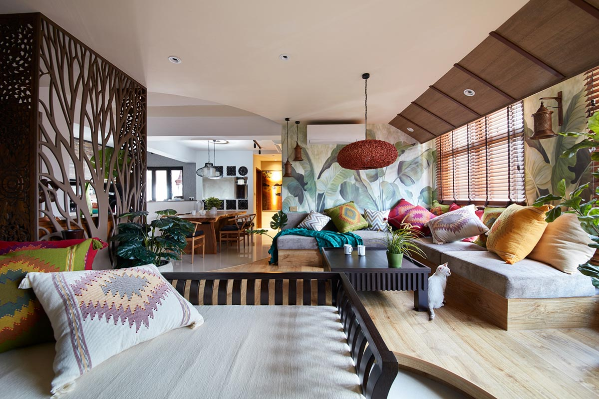 SquareRooms-Free-space-intent-Balinese-HDB-living-room-eclectic-colourful-jungle-aesthetic
