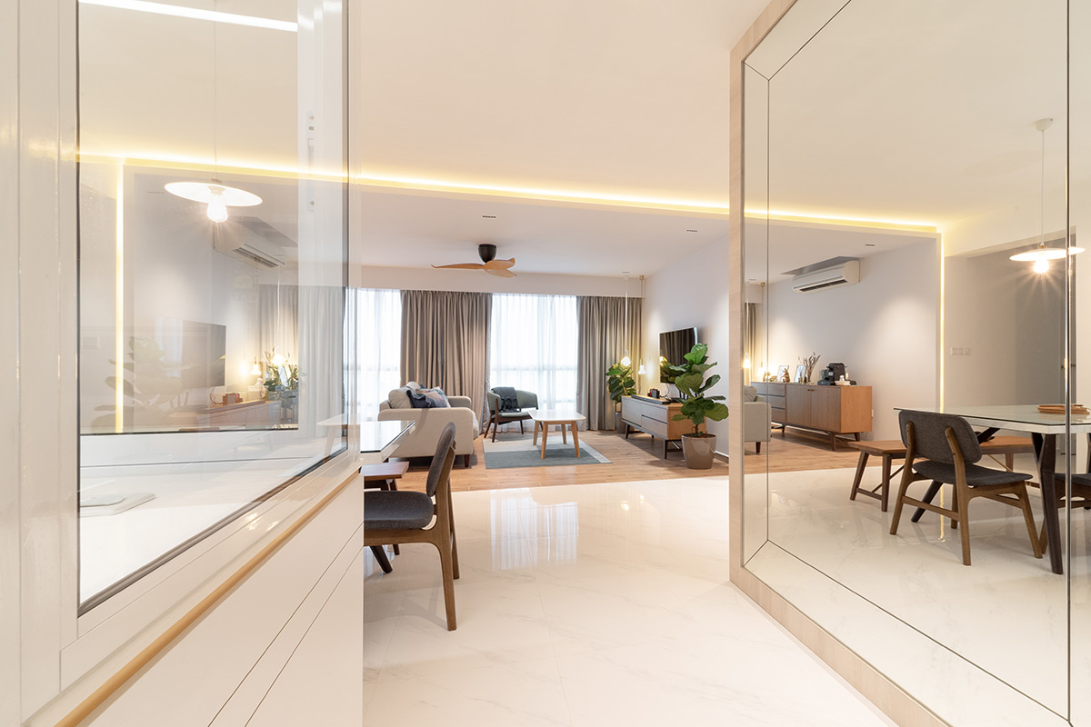 SquareRooms-ROOOT-Studio-dining-area-lights-white-minimalist-modern-warm