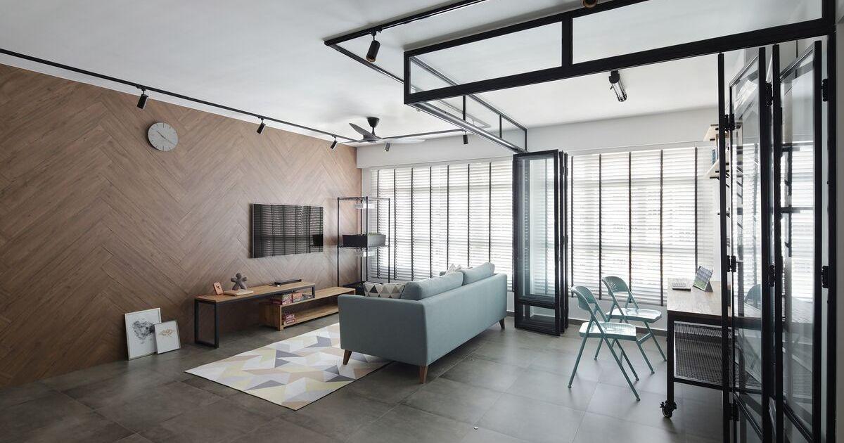 squarerooms versaform living room industrial open space design