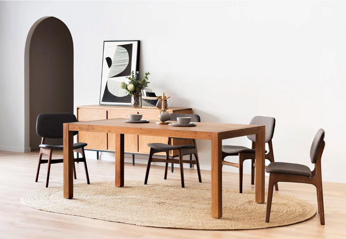 Pictured: Alexander Dining Table, from $559 and Alexander Sideboard, from $969.
