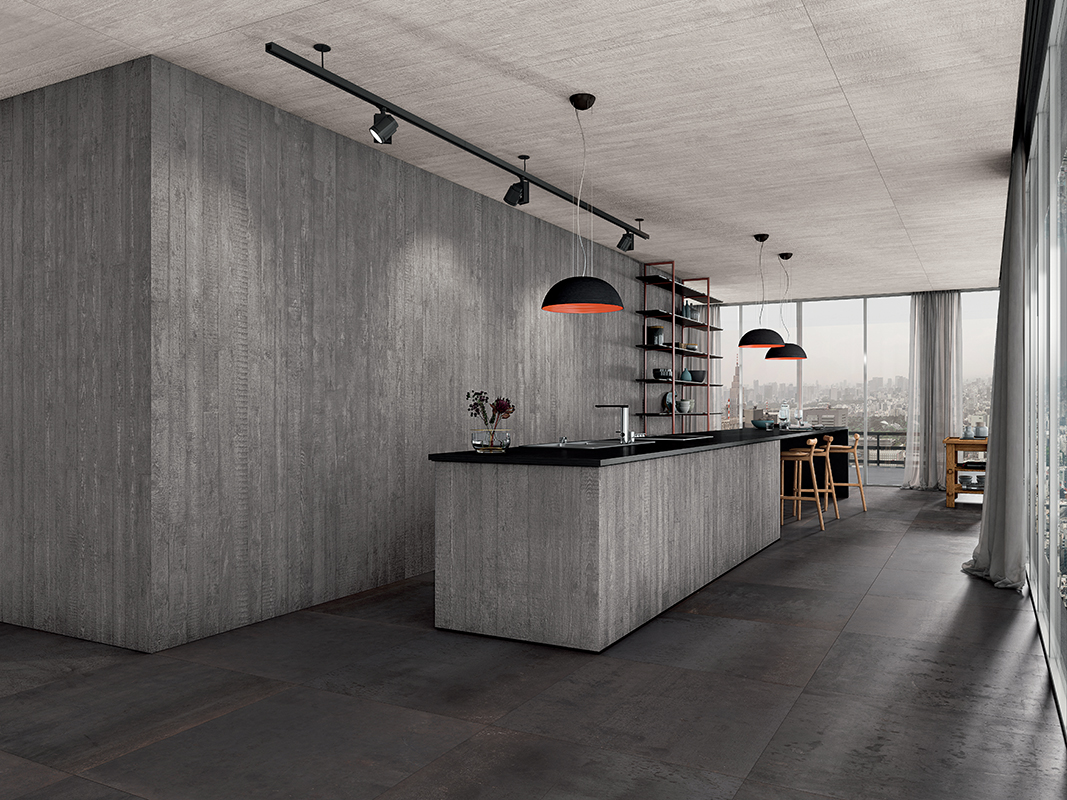 squarerooms-rice-fields-kitchen-grey-concrete-brick-red-lamp-contrast-dark-moody