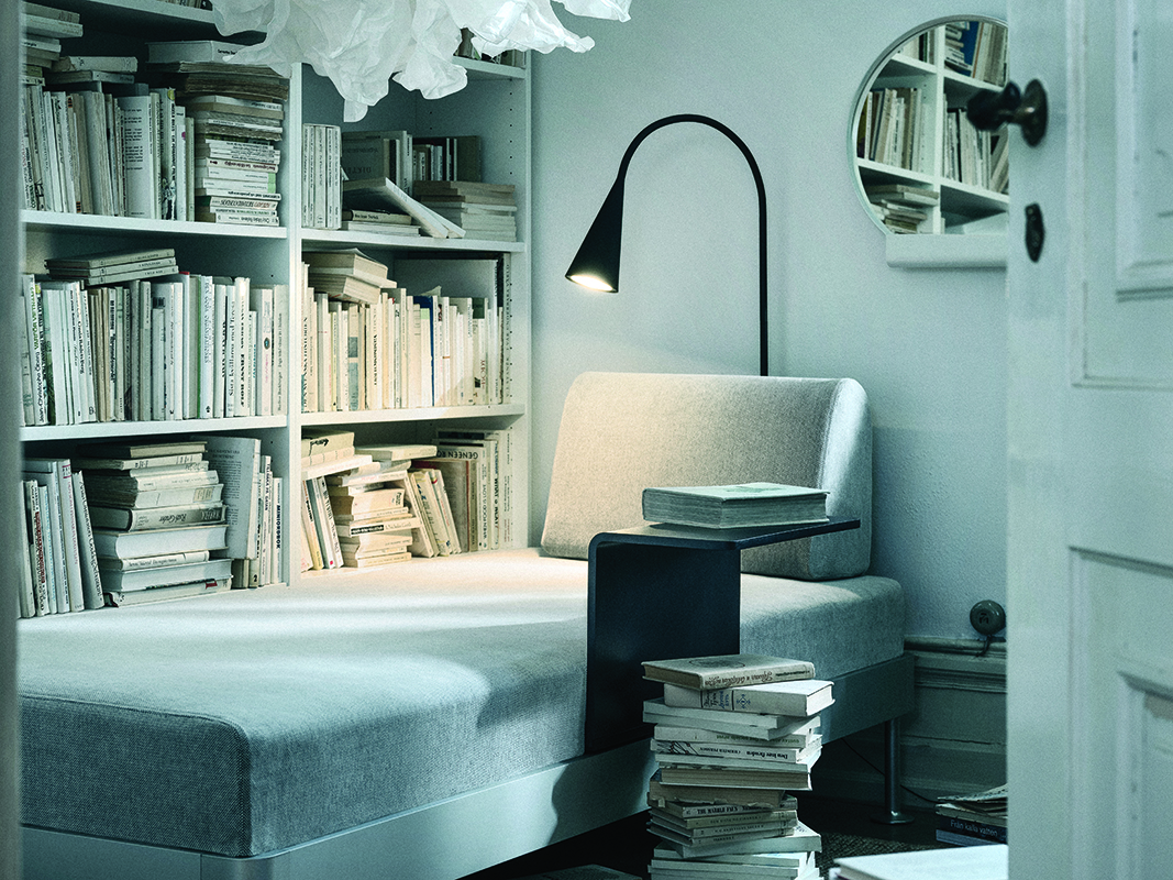 squarerooms-ikea-lighting-grey-white-daybed-books-shelf