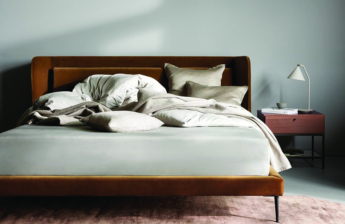 squarerooms-haylee-bed-wooden-frame-mattress-elegant-pillows-front-view