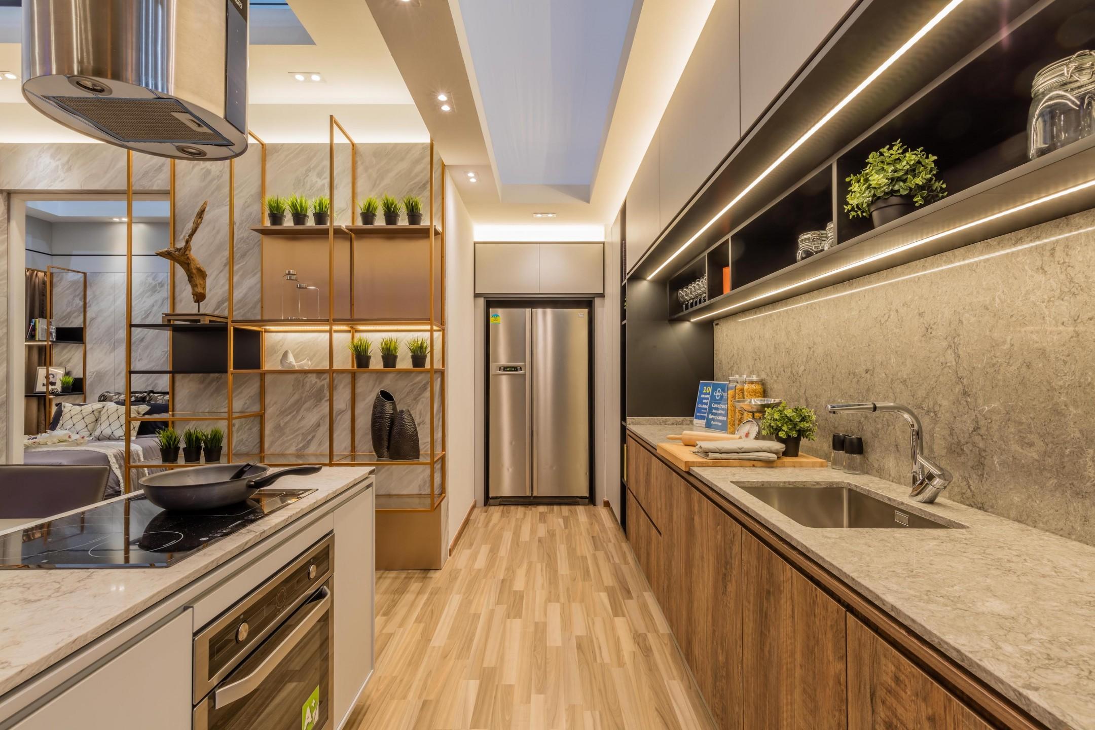 squarerooms-caesarstone-wooden-contemporary-kitchen-sleek