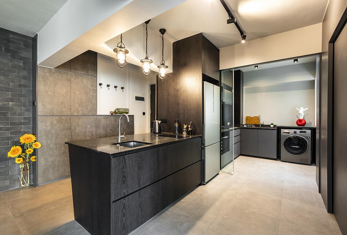 squarerooms-caesarstone-kitchen-black-sleek-contemporary-modern-stylish