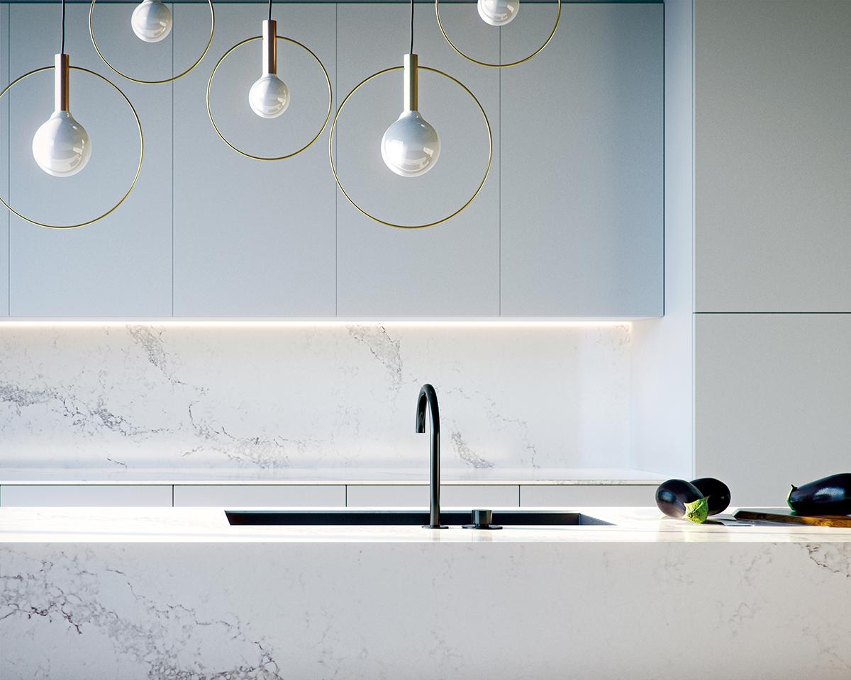 squarerooms-caesarstone-counter-kitchen-island-contemporary-stylish-lights-white-sink-tap