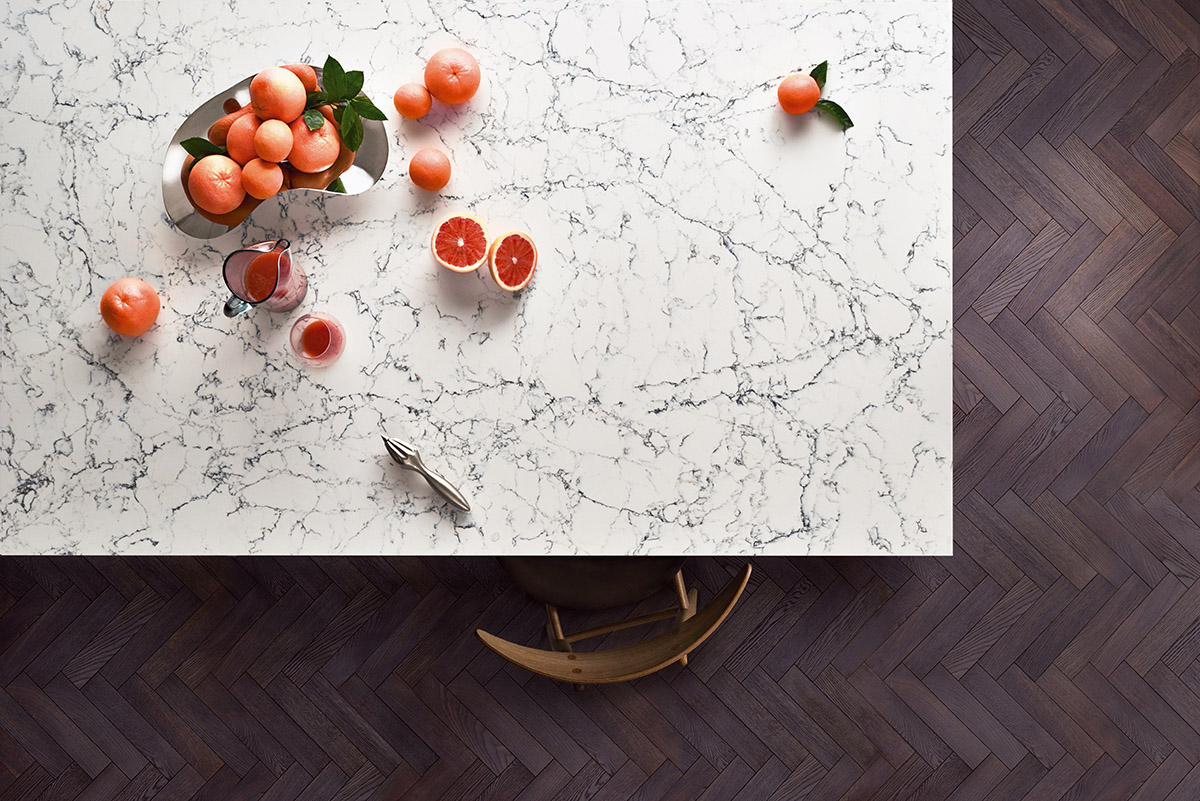 squarerooms-caesarstone-white-marble-surface-quartz-kitchen-counter-berries-fruits-red-flatlay