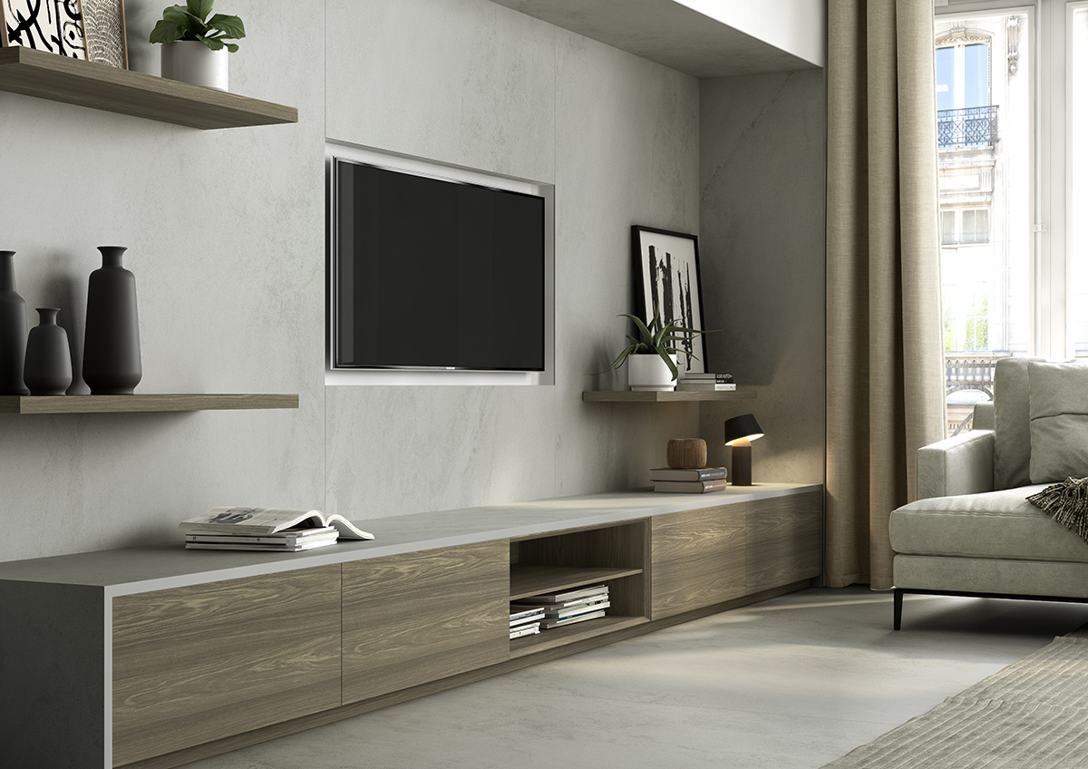 squarerooms-dekton-cosentino-counter-living-room-beige-minimalist-cosy-tv-built-into-wall-counter-wooden-light-grey