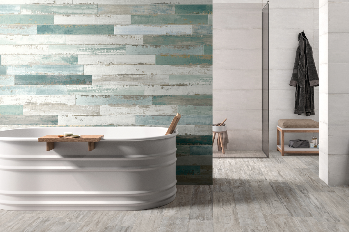 squarerooms-bathroom-blue-green-turquoise-wooden-wall-tiles-bathtub-relaxing-pastel