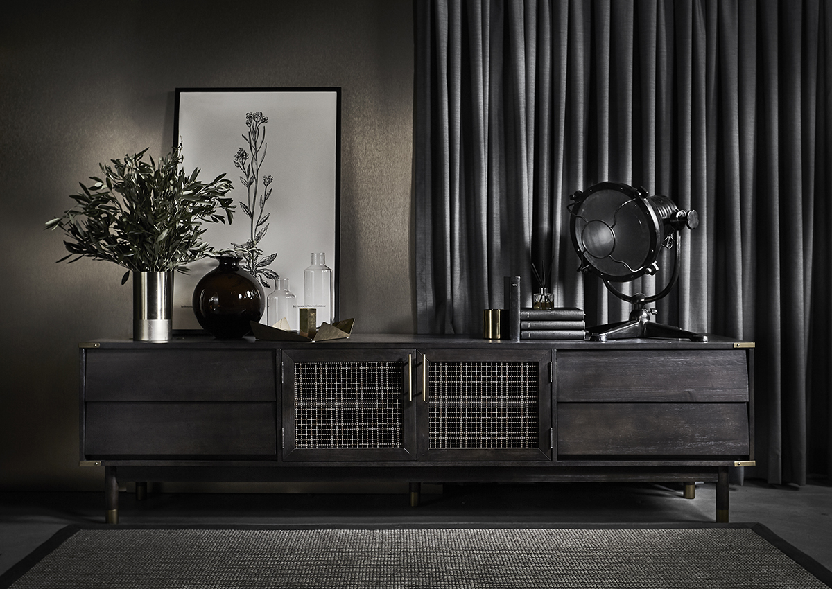 squarerooms-Commun-rover-tv-set-stand-cupboard-cabinet-wood-dark-brass-metal-moody-masculine
