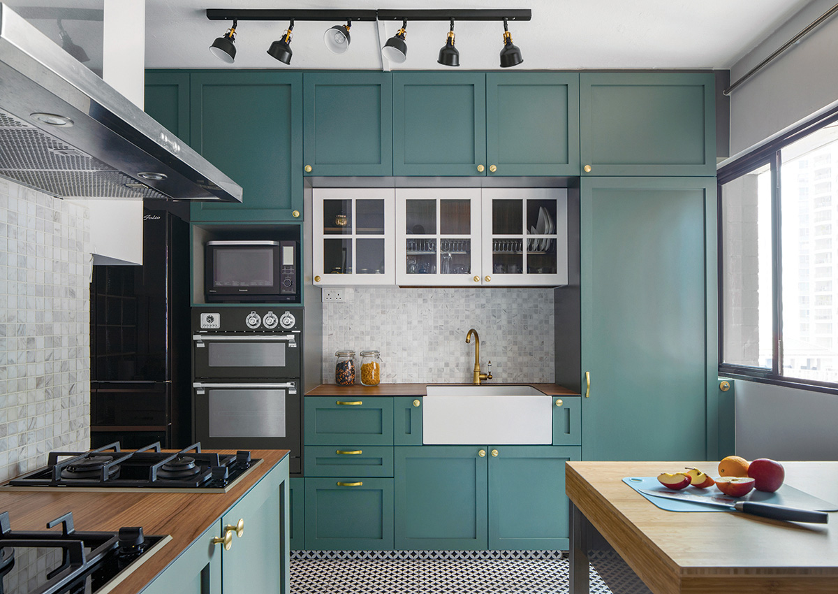 squarerooms-versaform-mid-century-modern-vintage-singapore-hdb-renovation-interior-design-blue-cabinets-kitchen-bright-colourful