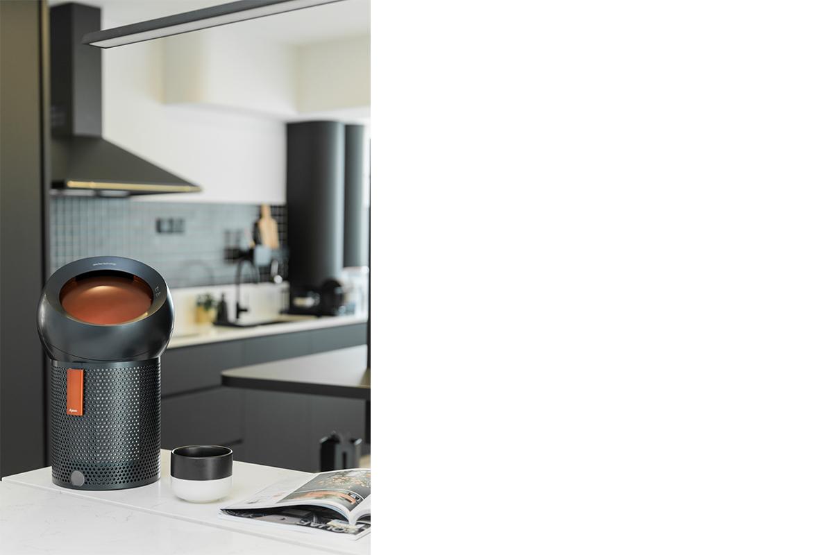 squarerooms-dyson-home-appliance-lifestyle-monochromatic-sleek-kitchen-counter-magazine