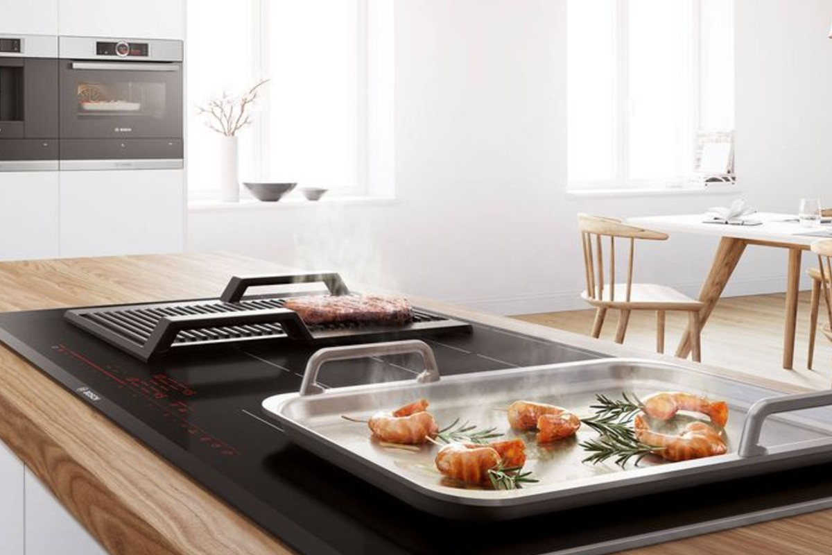squarerooms bosch cooktop stovetop cooking plate seafood kitchen counter island