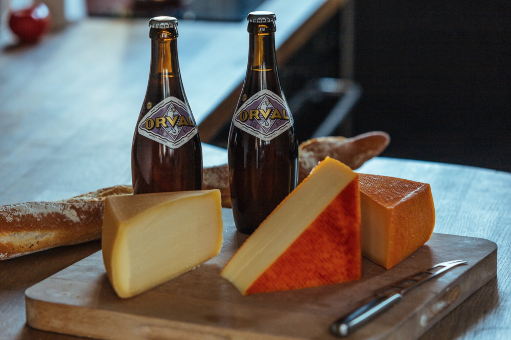squarerooms bunkerbunker orval trappiste craft beer home delivery cheese platter lifestyle shot