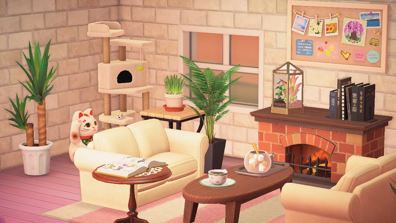 Here's How You Can Easily Recreate Your Animal Crossing ... on Animal Crossing Living Room Ideas  id=31179