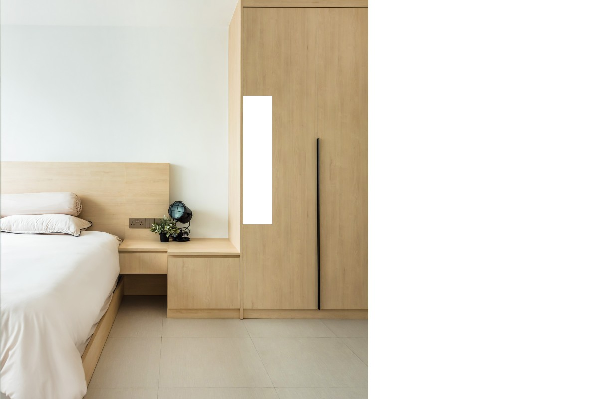 SquareRooms-ARCHIVE-DESIGN-Bed frame and bedside table
