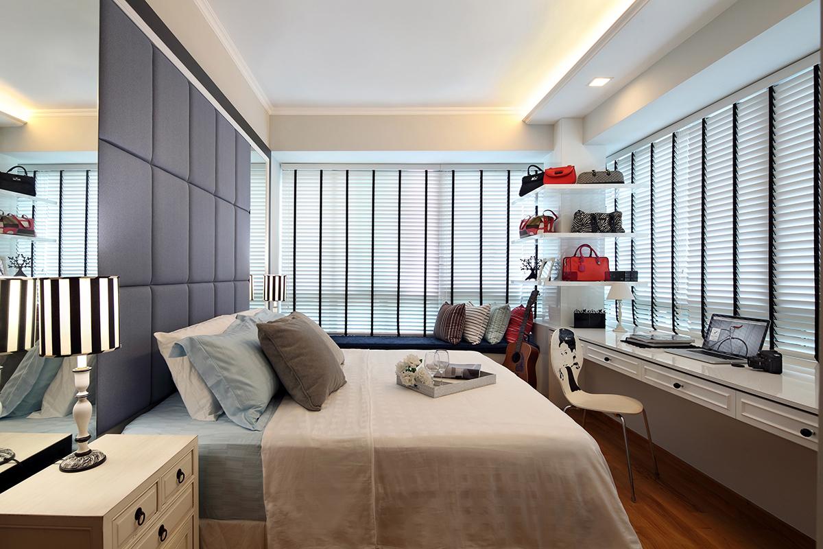 SquareRooms bedroom desk window home office Black N White Haus