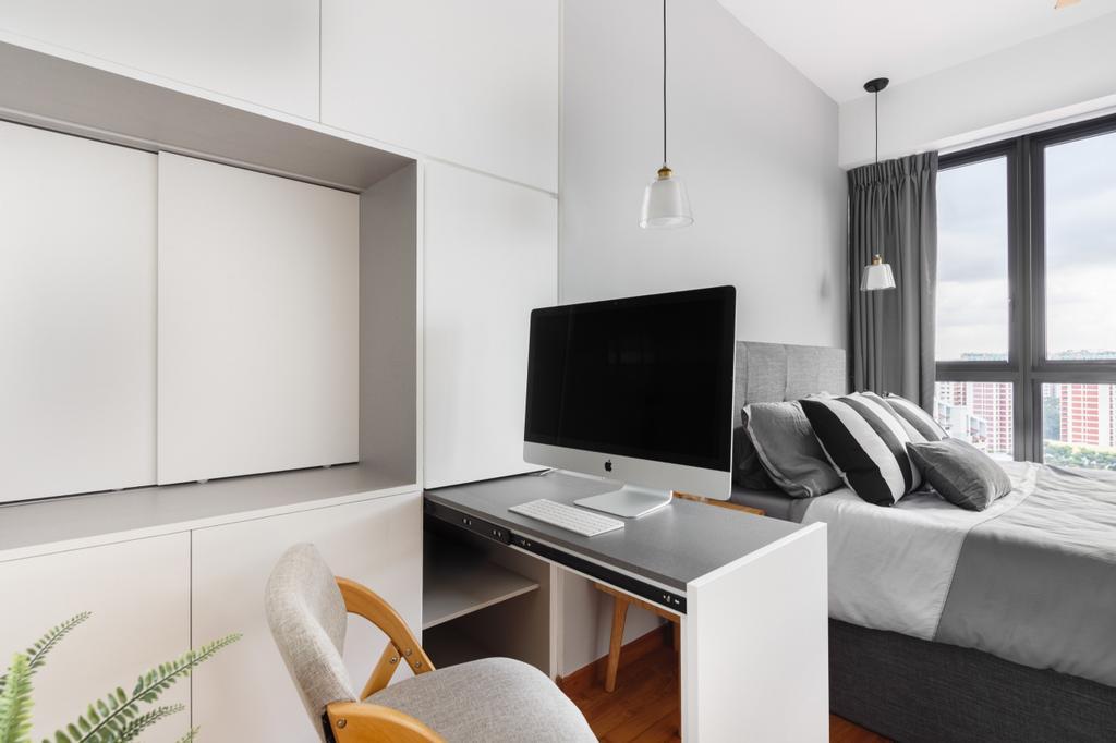 squarerooms home philosophy office study tuck away hidden storage space saving bedroom