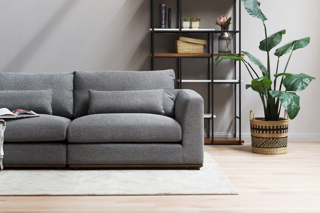 squarerooms castlery grey sofa couch