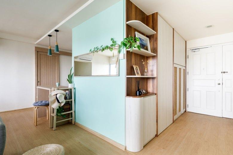 squarerooms salt studio mint green bomb shelter mirror scandinavian living room