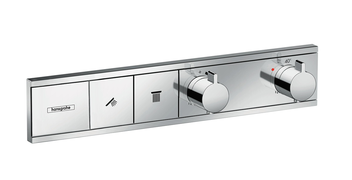 squarerooms hansgrohe rainselect shower controls